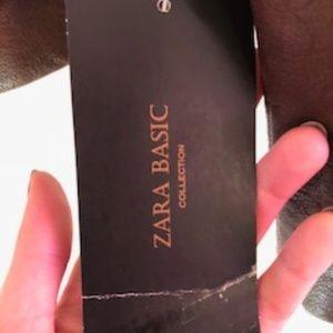 Zara Jackets & Coats - Zara Basic - Brown Leather Jacket
